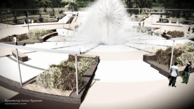 ВБрянске началась установка фонтана нанабережной
